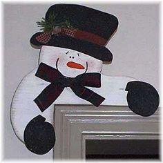 Snowman craft ideas - Free corner snowman pattern