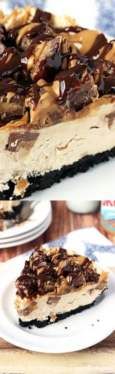 Ultimate No-Bake Reese's Peanut Butter Cup Cheesecake