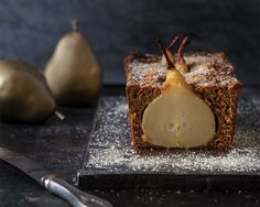 """This is one of twelve recipes inspired by the holiday tune """"Twelve Days of Christmas."""" One partridge in a pear tree makes two taste Gingerbread Pear Loaves."""