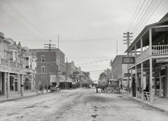 This is 12th Street, looking east in Miami, Florida - 1908