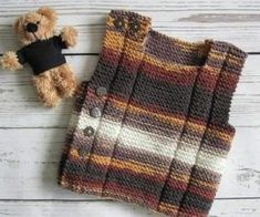 Baby knit Vest Set of 2 Easy Knitting pattern Baby waistcoat Easy Knitting Patterns, Baby Patterns, Pdf Patterns, Knit Vest Pattern, Garter Stitch, Baby Knitting, Clothes, Diy Baby, 18 Months