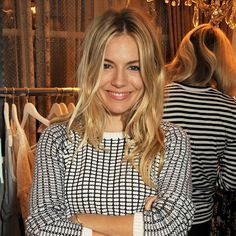 Sienna Miller.  Apart from perhaps Kate Moss, no one does boho chic hair quite like Sienna.