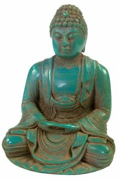 Authentic Carved Antique Turquoise Buddha, #Litanyjewelry loves using #turquoise accents in our #BuddhasandYogis line!! www.litanyjewelry.com