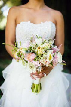 Pretty pink blooms always make us happy. Photography: Janae Shields Photography - janaeshields.com, Floral Design: Nicole Ha Designs - nicoleha.com  Read More: http://www.stylemepretty.com/california-weddings/2014/05/07/elegant-outdoor-wedding-at-nestldown/