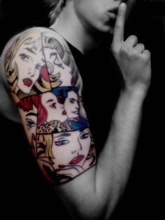 Fantastic Pop Art Ink based off of the Incredible Works by Lichtenstein! | Caption by Jenn Brown