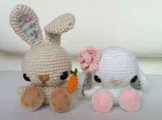 This little floppy-eared crochet bunny is simply perfect for spring. Follow along to see how to crochet the bunny and hand-stitch its adorable face.