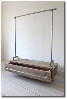 DIY Industrial Pipe Furniture - Learn more about DIY Industrial Pipe Furniture Projects at http://wiselygreen.com/15-industrial-pipe-furniture-and-home-projects-for-diyers/