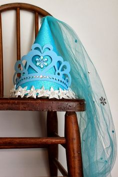 Cinderella Birthday Princess Party Hat by elizabethdoodah