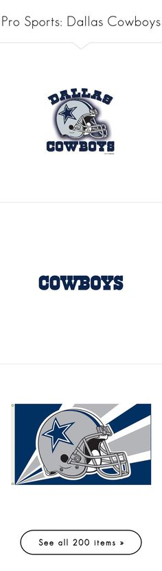 """""""Pro Sports: Dallas Cowboys"""" by angeloutofdarkness ❤ liked on Polyvore featuring sports, cowboys, dallas cowboys, logo, wording, home, home decor, white home decor, white home accessories and quotes"""