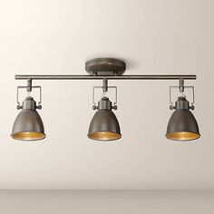 Pro Track Abby 3-Light Bronze Track Fixture - #9K973 | Lamps Plus