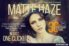 Matte Haze Photoshop Actions by @Graphicsauthor