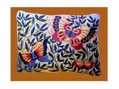 Retro Butterflies Pillow Needlepoint Kit NOS by EnduringEchoes, $20.00