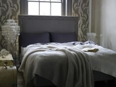 Flora King size bed in Charcoal £945  http://www.sofa.com/shop/beds/all-beds/flora#230-BLCCHA-0-0