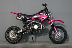 Moto 34 Pink Pit Bike can't wait to get one Dirt Bikes For Sale, Cool Dirt Bikes, Ktm Dirt Bikes, Pink Dirt Bike, Dirt Bike Girl, Moto Quad, Quad Bike, Toyota, Bmw Autos