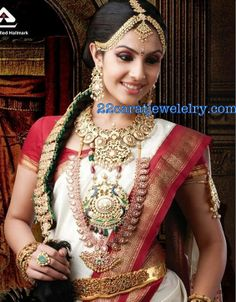 Jewellery Designs: Indian Traditional Bridal Jewellery(Temple Jewelel...