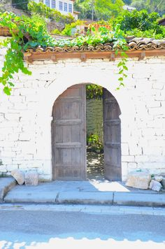 Door of the garden in Berat, Albania.