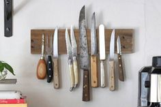 How To: Make a Magnetic Knife Rack