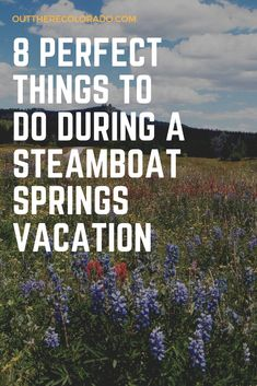 Planning to vacation in Colorado. How about paying a visit to Steamboat Springs for adventure, outdoor recreation, and countless scenic hikes and views. Here are 8 perfect things to do during a visit to Steamboat Springs, Colorado. Steamboat Springs Colorado, State Of Colorado, Colorado Hiking, Vacation Quotes, Family Vacation Destinations, Best Vacations, Family Vacations, Vacation Ideas, Spring Vacation