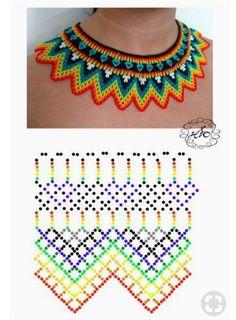 Natali Khovalko - Do it my self Diy Necklace Patterns, Seed Bead Patterns, Beaded Jewelry Patterns, Beading Patterns, Beading Projects, Beading Tutorials, Beaded Crafts, Beaded Collar, Bead Jewellery