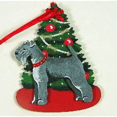 Kerry Blue Terrier Christmas ornament