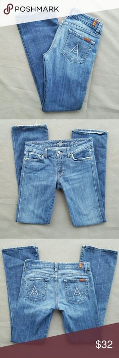 7 for All Mankind Designer Jeans Great condition and quality Outer-seam 38 in. In seam 30.5  Feel free to ask me any additional questions! 3+ bundles 15% off. Happy Shopping! 7 For All Mankind Jeans Boot Cut