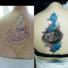 Cobertura de um trabalho meu antigo  #Tattoo#watercolor