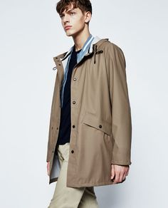 Image 2 of HOODED RAINCOAT from Zara