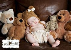 3 month old photo shoot ideas | Found on confessionsofapropjunkie.com