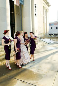 Offbeat Bride - Like the Bridesmaids outfits