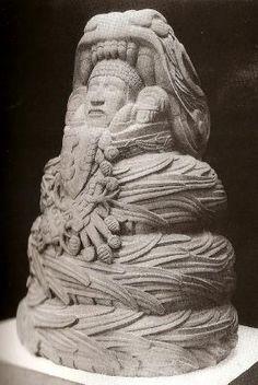 Quetzacoatl Sculpture, RattleSnake, Snake Viper, Rattle Snake, Aztec, Mexican, Feathered Serpent