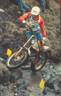 Ulf Karlsson 1982 Vintage Motocross, Vintage Motorcycles, Dirt Bikes, Road Bikes, Motos Trial, Trial Bike, Vw Cars, Trail Riding, Trials
