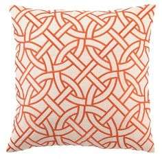I pinned this Circle Link Linen Pillow in Orange from the Trina Turk & D.L. Rhein event at Joss & Main!