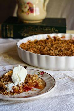 Hoje para jantar ...: Se a Mãe traz maçãs, fazemos Crumble {saudável!}