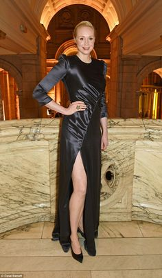 Legs for days: Game Of Thrones favouriteGwendoline Christie showed off some skin...