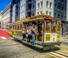 aside from the Golden Gate Bridge another #sanfrancisco icon is the #cablecar that is pulled by a cable running below the street. #wikitriva by abetrana