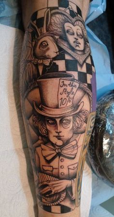 "5) Your Fav Pin off Laura's ""Cool Tatts"" - Board   Alice in Wonderland tattoo done by Lea Nahon"