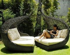 Hamacas para parejas #jardines