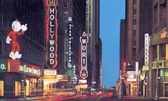 Downtown Ft. Worth, TX -- 1950s  How many times did I go on dates to the Hollywood or the Worth. Back then, about the only theaters in town.