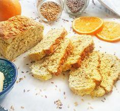 Receita de Pão de Linhaça e Laranja sem Glúten e sem Leite! Confira essa e outras deliciosas receitas saudáveis no nosso Instagram.   Acesse: https://www.instagram.com/emporioecco/