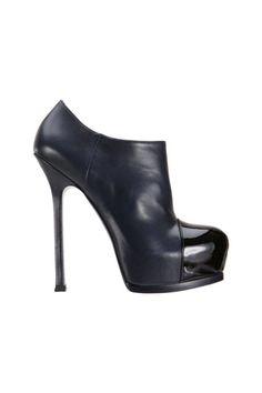 Yves Saint Laurent Tribtoo Cap Toe Booties, $995; barneys.com