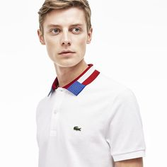 Wear our Men's 'Nations' Polo with your choice of national colors on the collar.
