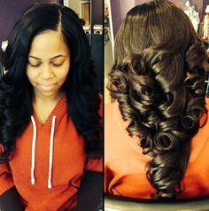 Big beautiful curls for Prom