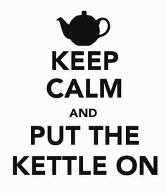 "As sick as I am of the ""Keep Calm"" trend.this one is pretty awesome. Keep Calm Quotes, Keep Calm And Love, My Tea, My Mood, Tea Set, Kettle, Tea Time, Tea Party, Tea Cups"