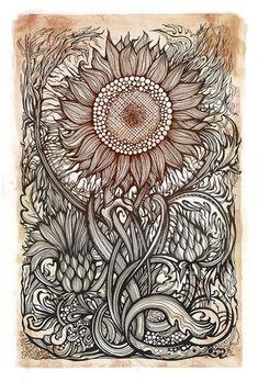 sunflower by Irina Vinnik, via Flickr