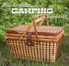 Camping tips & tricks - ways to help cut some of the work out of camping