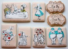 alice and wonderland cookies | Alice in Wonderland Cookie Set |