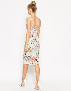 Image 2 of ASOS Floral Hitchcock Dress