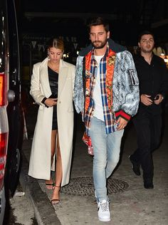 Scott Disick Steps Out Wearing a Gucci Jacket and Nike Sneakers with Sofia Richie Wearing an RTA Brand Dress | UpscaleHype