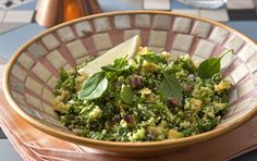 CousCous with Greens - San Remo Vegetarian Pasta Recipes, Couscous Recipes, Rice Recipes, Vegetable Recipes, Vegan Recipes, Cooking Recipes, Yummy Food, Tasty, Salad Dressing