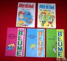 5 Judy Blume Fudge Series Complete Set Chapter Books~Sheila~Fourth Grade~Age 7+